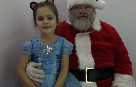 A Beaver with Father Christmas