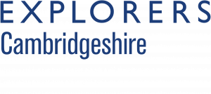 """The Explorers Section Logo, with the word """"Cambridgeshire"""" beneath"""